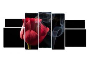 Модульная картина Роза в дыму
