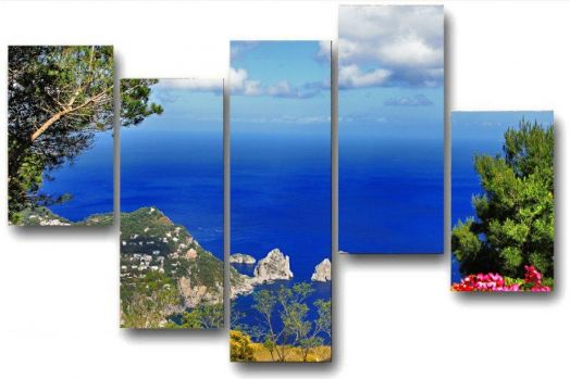 Модульная картина Море и скалы