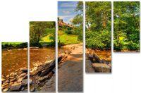 Модульная картина Дорога в лес