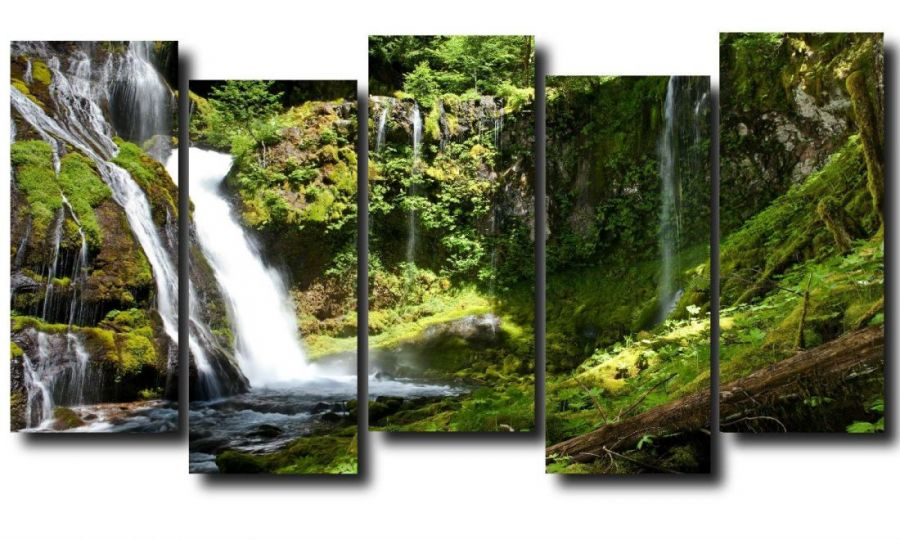 Модульная картина Природа. Водопад