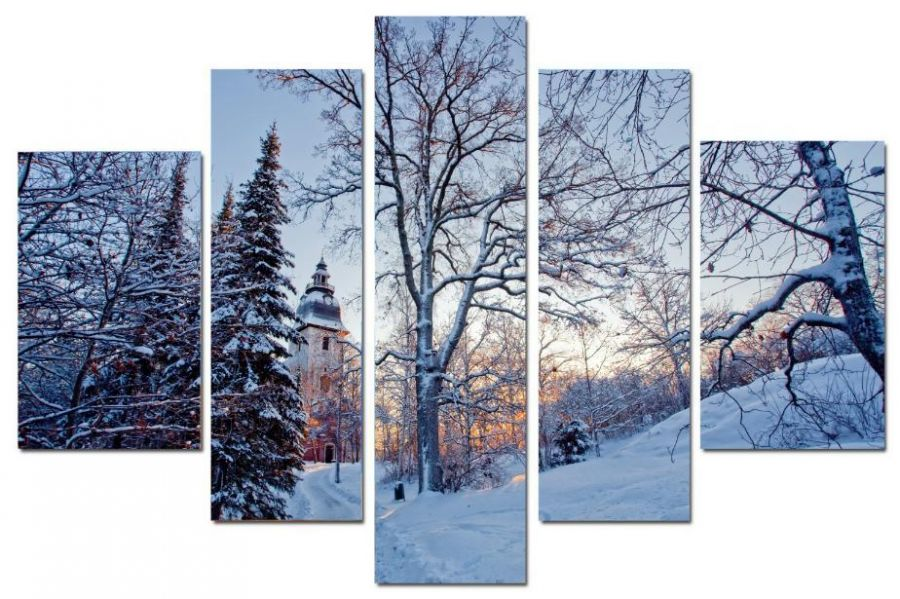 Модульная картина Зимний вечер