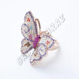 Кольцо с кристаллами Swarovski КО-044