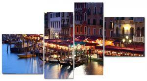 Модульная картина Причал в Венеции