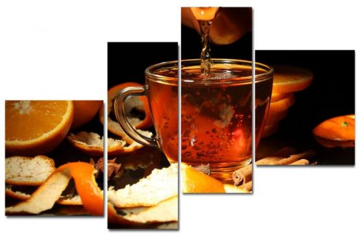 Модульная картина Чай