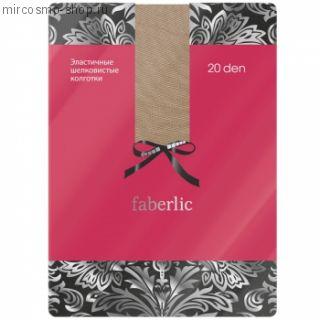 Эластичные шелковистые колготки, цвет бежевый 20 den