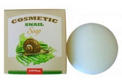 Косметическое мыло для умывания с экстрактом слизи улитки.