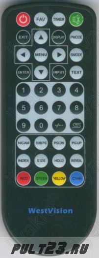 пульт для водонепроницаемого телевизора WEST VISION TV-2