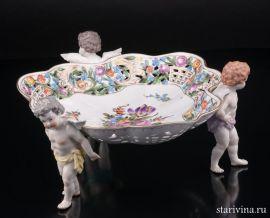Блюдо Три ангелочка, Potschappel, Германия, нач. 20 века