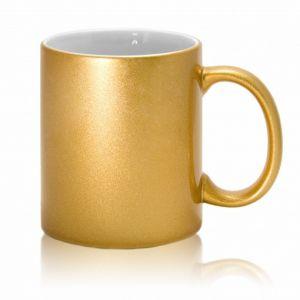Кружка керамическая золотая для сублимации.