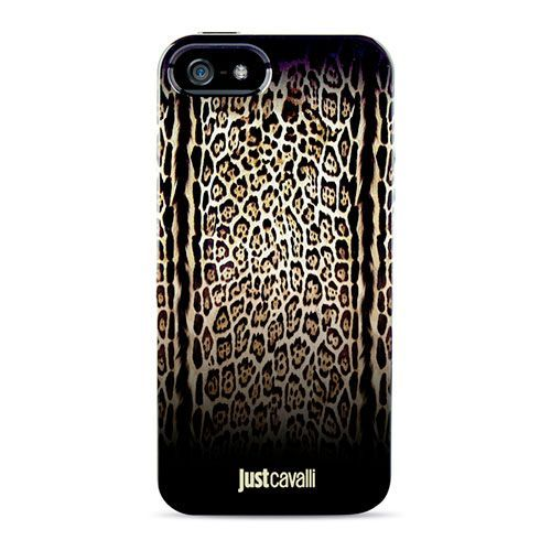 Чехол-накладка для iPhone 5/5S Just Cavalli leopardo