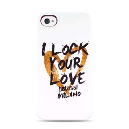 Чехол-накладка для iPhone 5/5S Just Cavalli LOCK u LOVE (white)