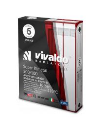 Биметаллический радиатор Vivaldo Super Bimetal 500/100 1 секция