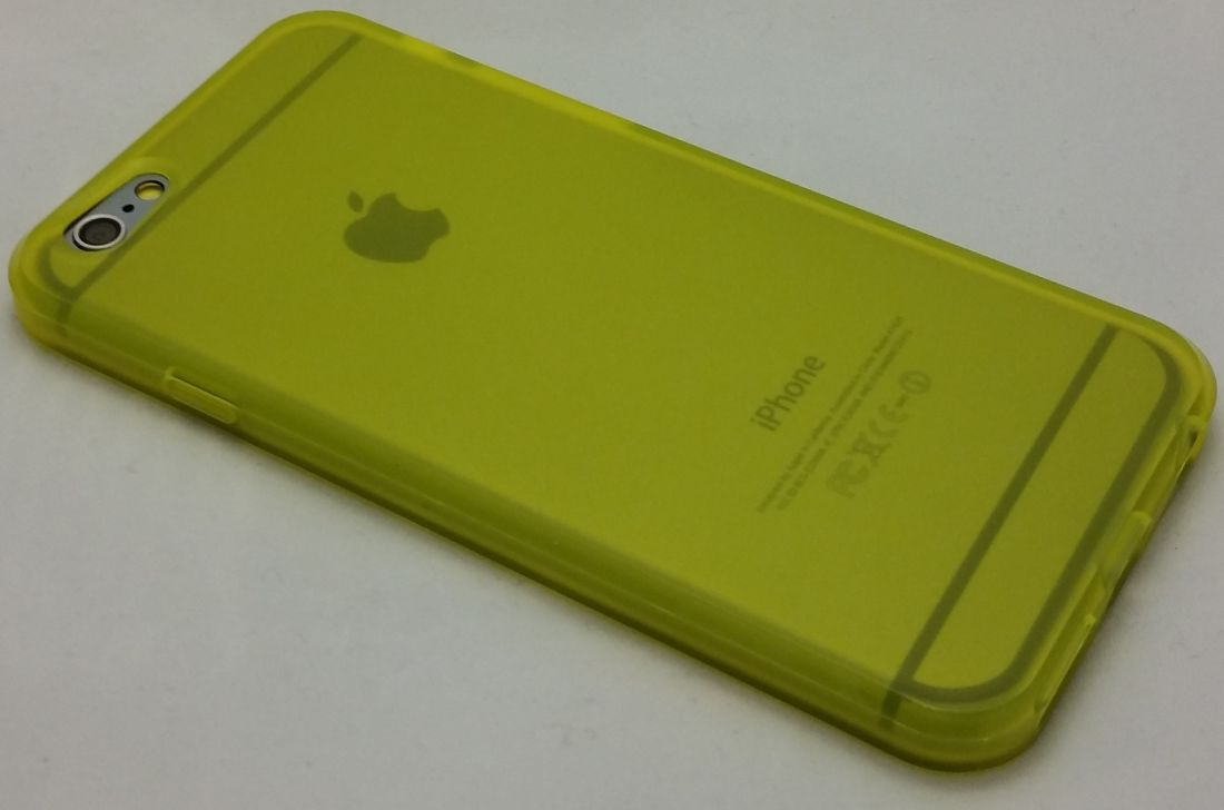 Силиконовый чехол для iphone 6/6s (желтый)