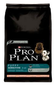 Pro Plan Puppy Sensitive для щенков лосось/рис