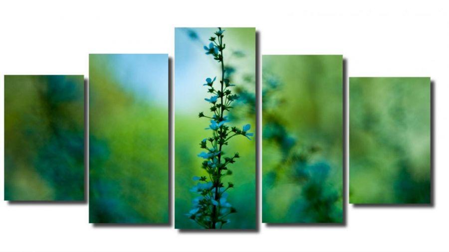 Модульная картина Цветок в дымке