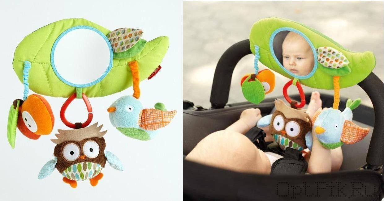 Навесная игрушка с совой на бампер коляски Skip Hop Stroller