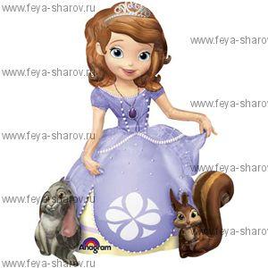 Шар ходячка Принцесса 121 см