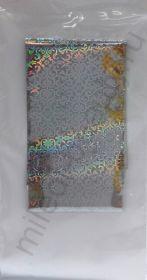 Фольга переводная голографическая GOL104 Серебро узор 4 см * 1 м