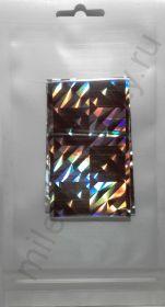 Фольга переводная голографическая F-1m-GOL107 Серебро геометрия 4 см * 1 м