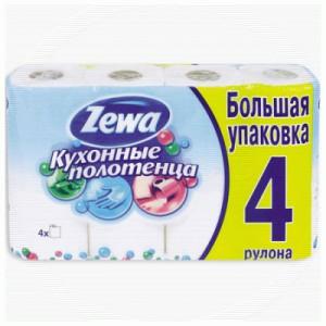 Zewa Полотенца кухонные 2-ух слойные 4шт