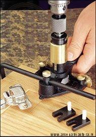Шаблон (Кондуктор) сверлильный для мебельных петель Veritas Hinge-Boring Jig 05J07.01 М00005741