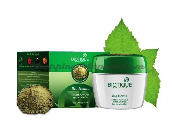Краска для волос Натуральная хна Биотик   Biotique Bio Heena Fresh Powder Hair Color
