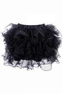 Многослойная черная юбка пачка из фатина