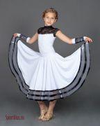 черно-белое платье для бальных танцев