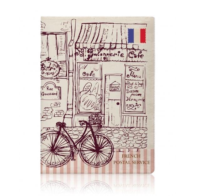 """Обложка для паспорта Miusli """"Paris Cafe"""""""