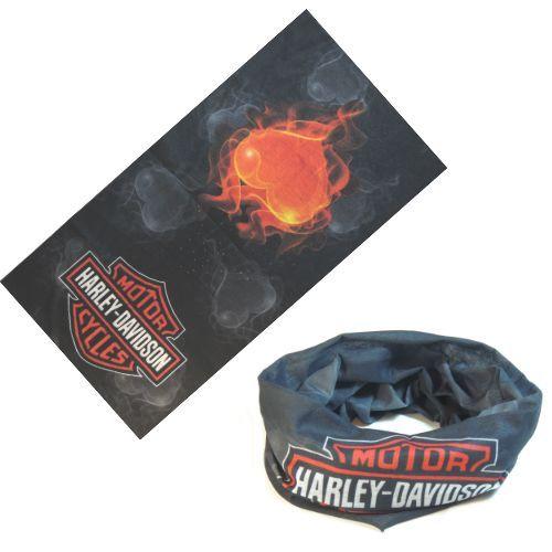 """Многофункциональная бандана """"Harley Davidson"""" с сердцем"""