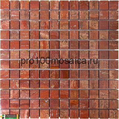 RED  STONE 23х23. Мозаика Anatolian Stone, 305*305 мм (CHAKMAKS)