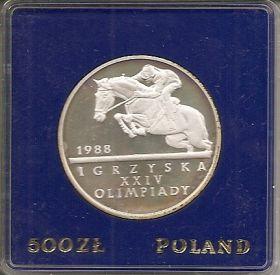 XXIV Олимпийские Игры 1988.Конный спорт. 500 злотых Польша 1987