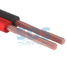 Кабель акустический, ШВПМ 2х0.75 мм², красно-черный, 100 м. PROCONNECT