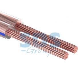 Кабель акустический, 2х0.50 мм², прозрачный BLUELINE, 100 м. PROCONNECT