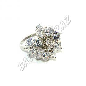 Кольцо с кристаллами КО-100