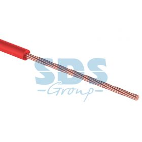 Провод монтажный (автомобильный) 0.75 мм2 100м красный (ПГВА) REXANT