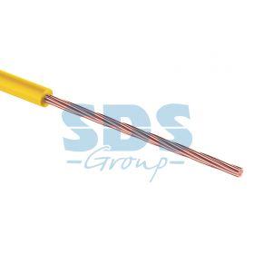 Провод монтажный (автомобильный) 1 мм2 100м желтый (ПГВА) REXANT