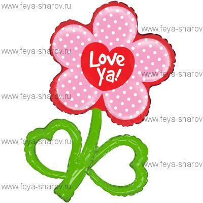 Шар Цветок Любовь 97 см