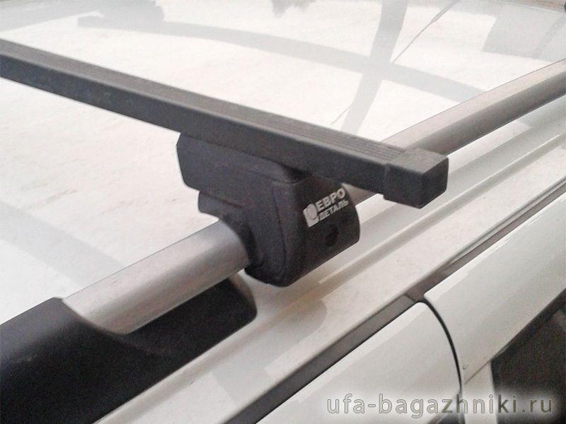 Багажник на рейлинги Евродеталь, стальные прямоугольные дуги