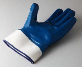 Перчатки хб, манжета крага с нитриловым покрытием, подкладка 100% хлопок.