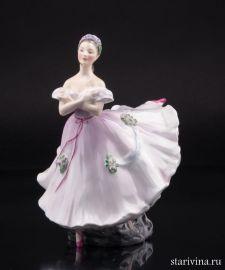 Балерина в розовом, Royal Doulton, Великобритания, 1952 г., артикул 01260