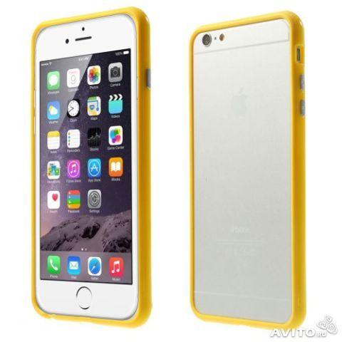 Бампер оригинальный для iphone 6 (желтый)