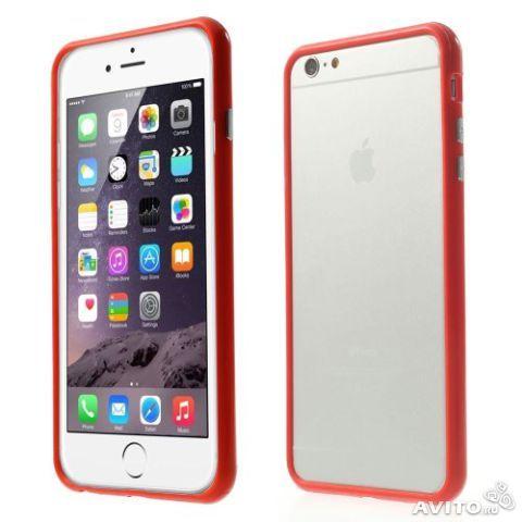 Бампер оригинальный для iphone 6 (красный)