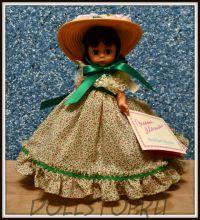 "Коллекионная кукла Скарлетт из Унесенных ветром от Мадам Александер - Madame Alexander Scarlett 426 Gone With the Wind 8"" Doll w/doll stand"