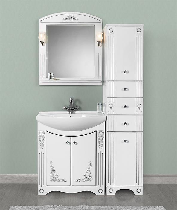 Мебель для ванной Vod-ok Elite Кармен 85 патина белый