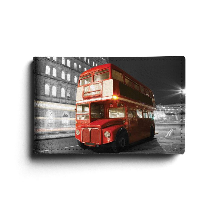 "Кожаная визитница ""London Bus"""