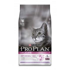 PRO PLAN DELICATE сухой 3 кг для кошек с проблемным пищеварением Индейка с Рисом