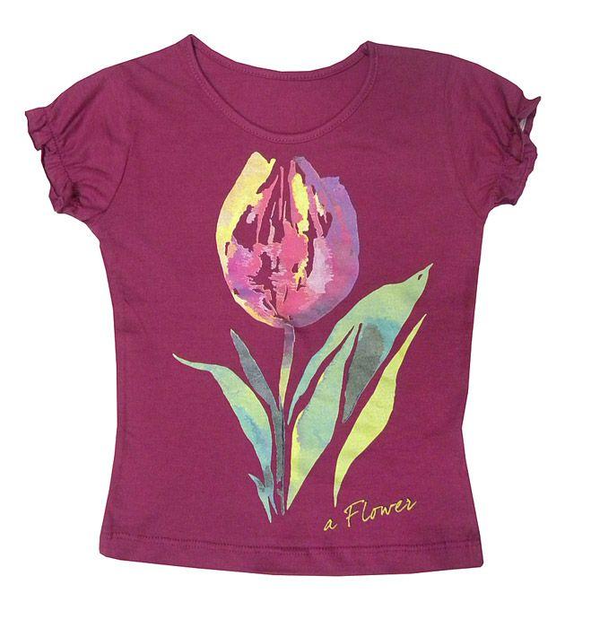 Блуза для девочки Тюльпан