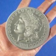 Jumbo Morgan Dollar -3""
