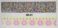 3D-наклейки на клеевой основе для дизайна ногтей, NK-01